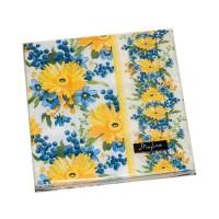 """Серветка """"Марго"""" Жовті квіти 33х33"""
